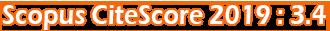 Scopus CiteScore 2019 : 3.4
